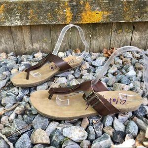 Blowfish Malibu Brown Thong Sandals Flip Flops
